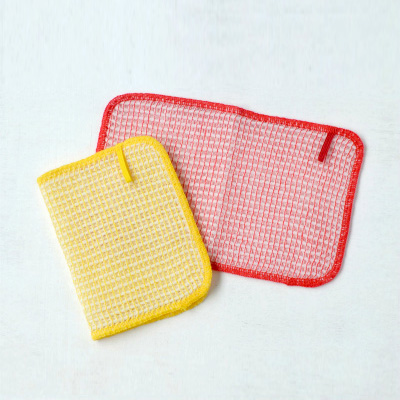 Bubble Dish clothes 2pieces (Yellow×Red)