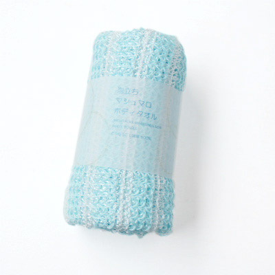 Mashmallow-like-forming Body Towels (Blue)