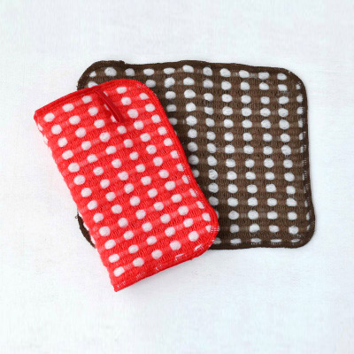 Fluffy wool-like Body Towels 2pieces (Red ×Brown)