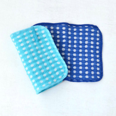 Fluffy wool-like Body Towels 2pieces (Saxe×Blue)