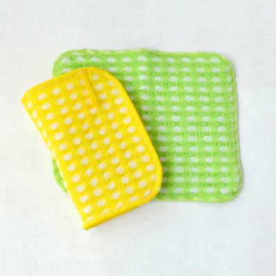 Fluffy wool-like Body Towels 2pieces (Yellow×Green)