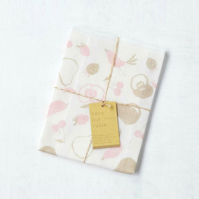 Mosquito-net fabric Kitchen Clothes (Fruits Pink)