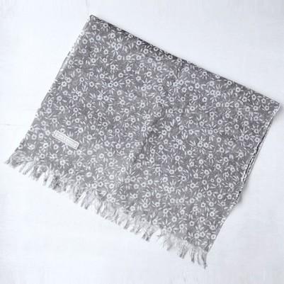Linen cotton Shawls (Flower Black)
