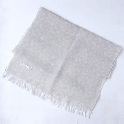 Linen cotton Shawls (Flower Ivory)