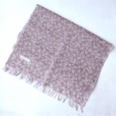 Linen cotton Shawls (Flower Purple)
