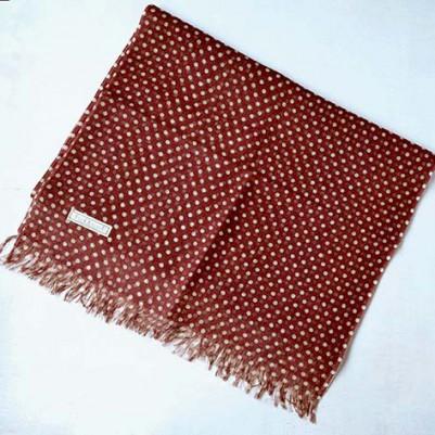 Linen cotton Shawls (Dots Red) *colour base
