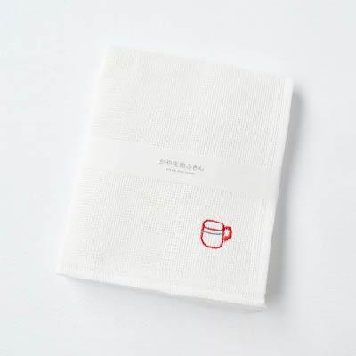 かや生地ふきん 刺繍(マグ)