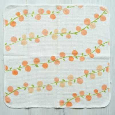 Knit Kitchen Cloth【イノダ織】(果実orange)