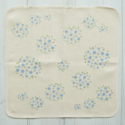 Knit Kitchen Cloth【イノダ織】(ブーケブルー)