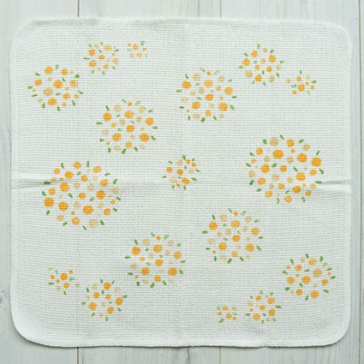 Knit Kitchen Cloth【イノダ織】(ブーケオレンジ)