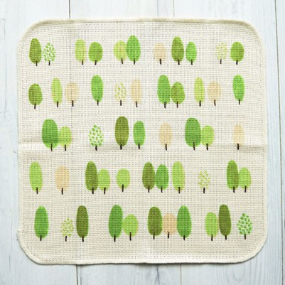 Knit Kitchen Cloth【イノダ織】(ツリーfresh-green)