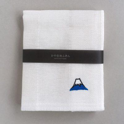 かや生地ふきん 刺繍(富士山)