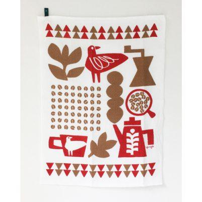 DISH CLOTH【ダイヤ織】(コーヒーと鳥と)